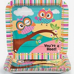 You're A Hoot Owl Large Square Plates