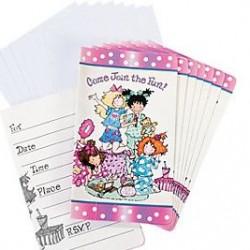 Sleepover Invitations &Envelopes