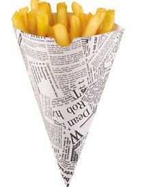 Treat Cone Newspaper Print
