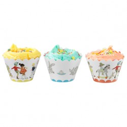 Belle and Boo Cupcake Wrappers