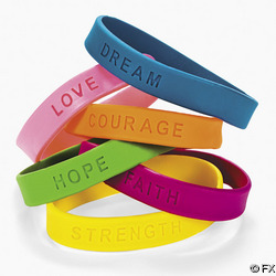 Inspirational Sayings  Rubber Bracelet