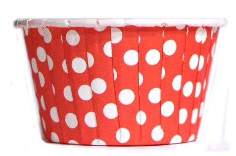 Baking Cups Red Polka Dot