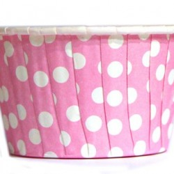 Baking Cups Pink Polka Dot