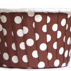Baking Cups Brown Polka Dot
