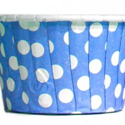 Baking Cups Blue Polka Dot