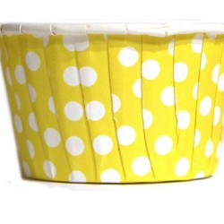 Baking Cups Yellow Polka Dot