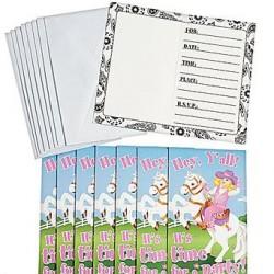 Cowgirl Invitations & Envelopes