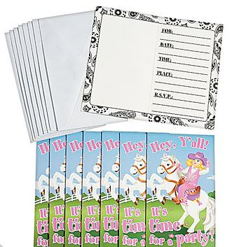 Cowgirl Invitations & Envelopes