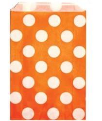 Candy Paper Bag Orange Polka Dot