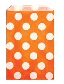 Candy Paper Bag Orange Polka Dot