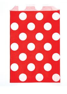 Candy Paper Bag Red Polka Dot