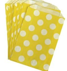 Candy Paper Bag Yellow Polka Dot
