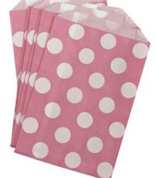 Candy Paper Bag Pink Polka Dot