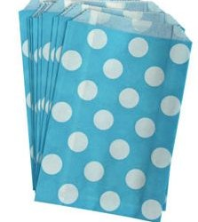 Candy Paper Bag Blue Polka Dot