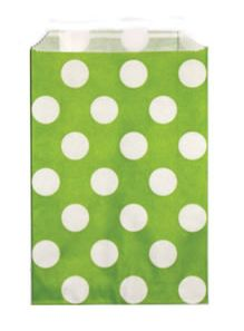 Candy Paper Bag Green Polka Dot