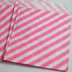 Candy Paper Bag Pink Stripe