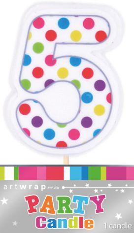 Candle Five Polka Dots