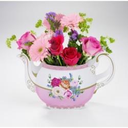 Tea Party Truly Scrumptious Tea Pot Vase