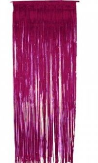 Metallic Curtain Pink