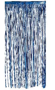 Metallic Curtain Blue