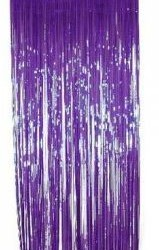 Metallic Curtain Purple