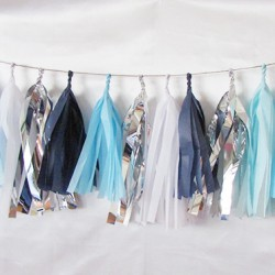 Tissue Paper Tassel Garland Winter Breeze