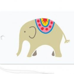 Gift Tag Circus Elephant