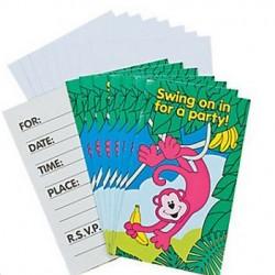 Neon Monkey Invitations & Envelopes