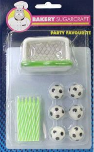 Candles Soccer Birthday Kit