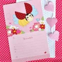 Ladybug Beetle Invitation & Envelopes