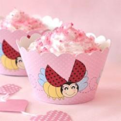 Ladybug Beetle Cupcake Wrappers