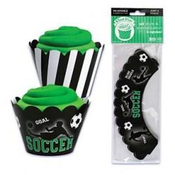 Soccer Cupcake Wraps