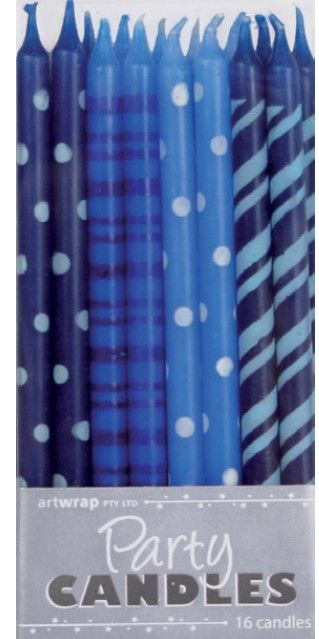 Candles Blue Mixed Pattern