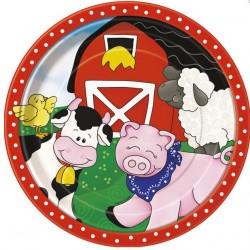 Farm Friends Plates