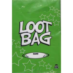 Loot Bag Plastic Green