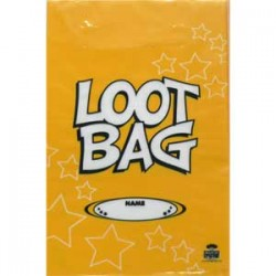 Loot Bag Plastic Yellow