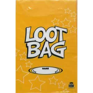 Loot Bag Plastic Yellow