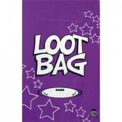 Loot Bag Plastic Purple