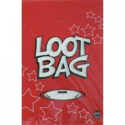 Loot Bag Plastic Red