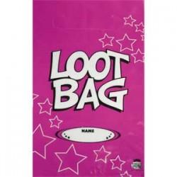 Loot Bag Plastic Pink