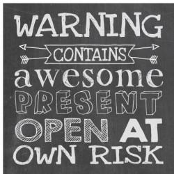 Card Mini Chalkboard Warning