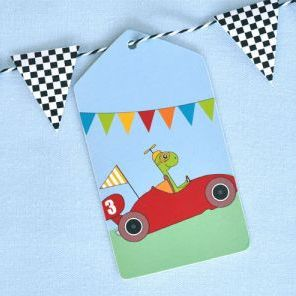 Little Race Cars Gift Tags