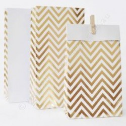 Chevron Gold Foil Treat Bags