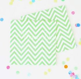 Chevron Green Napkins
