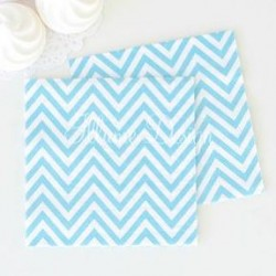 Chevron Blue Napkins