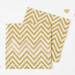 Chevron Gold Napkins