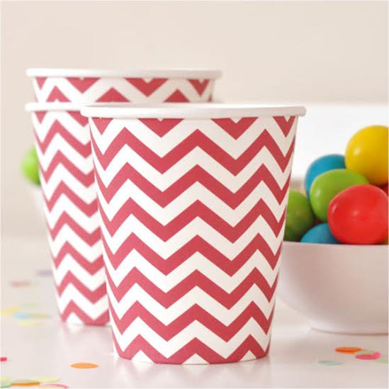 Chevron Red Cups