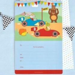 Little Race Car Invitations & Envelopes