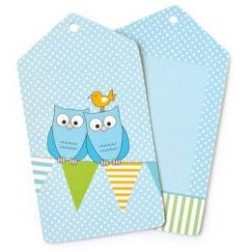 Blue Owl Gift Tags