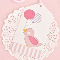 Birdy Pink Gift Tags